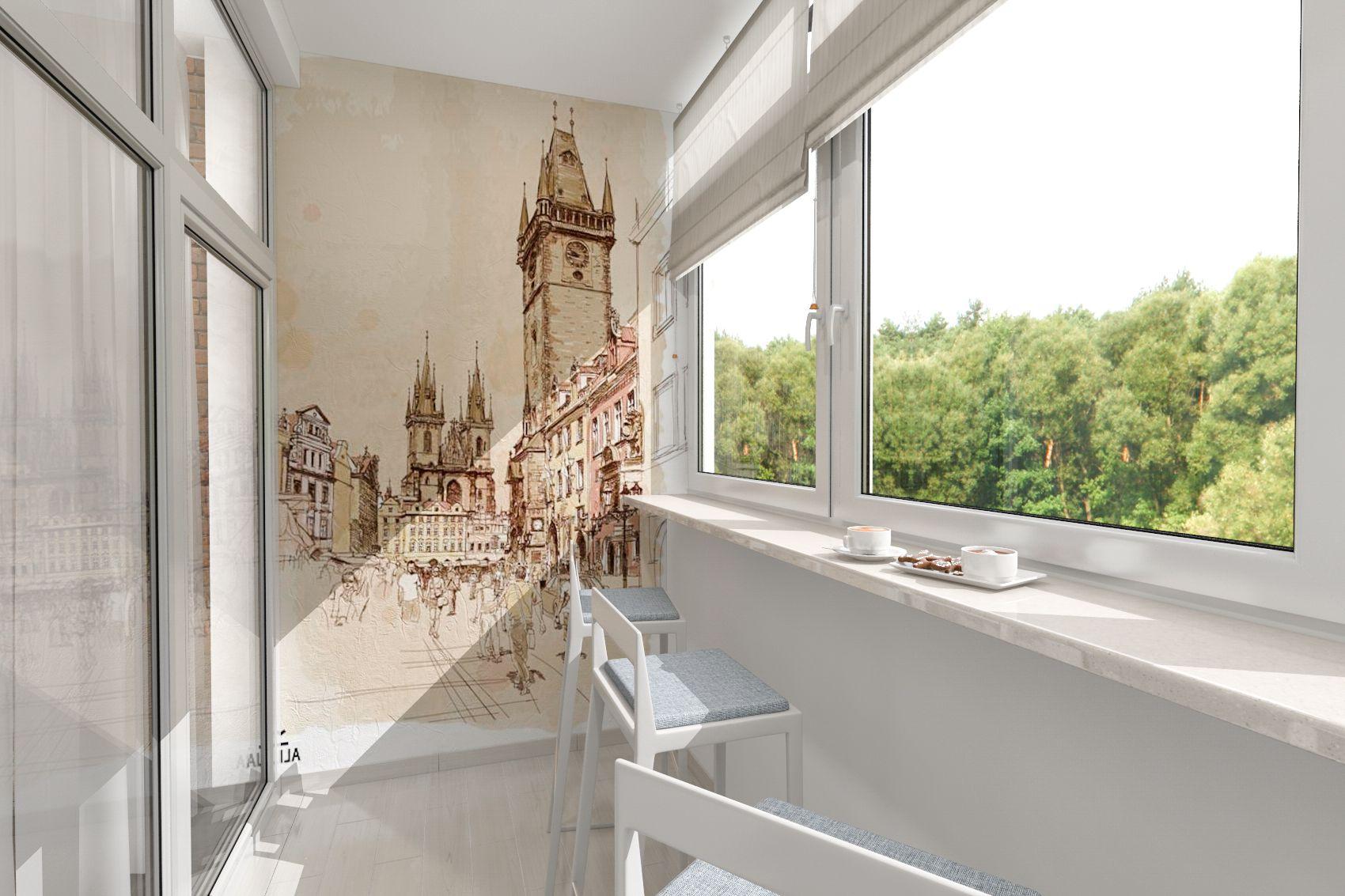 фотопечать на панелях фото для балкона предполагает